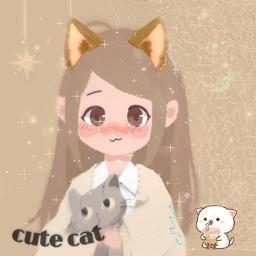 girly anime cute manga cat style otako japan pet animal freetoedit