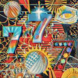 777 7 seven lucky7 luckynumber cosmic