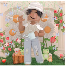 freetoedit art myedit ilovefaries_lilly bubbly_rblx_girl cuteavogirl interesting robloxaesthetic aestheticboy roblox robloxgfx gfx gfxmads robloxaestheticgfxboy party froggies bunny nature aesthetic boy roses basket garden spring butteryfly