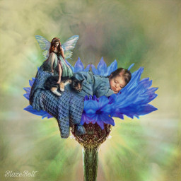 fairytale fantasy baby flower mirrortool magieffects fairy freetoedit