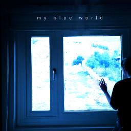blue photography picsart freetoedit