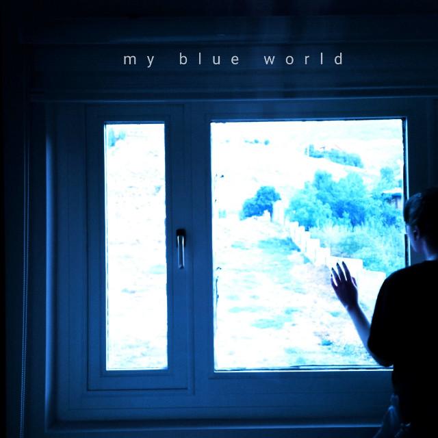 my #blue world #photography #picsart