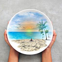 beach sunset freetoedit ircfilltheplate filltheplate