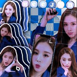 loona loonaheejin heejin jeonheejin kpop aesthetic 2000's blue cyber 2000
