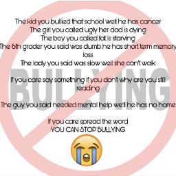 stopbullying nomorebullying saynotobullying freetoedit