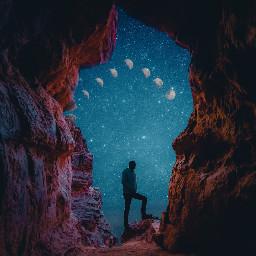 picsartmaster surreal moon moonedit freetoedit