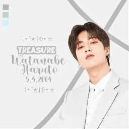 chimmyland_edits haruto wanabeharuto treasure harutotreasure cute blue pastelblue remixit freetoedit