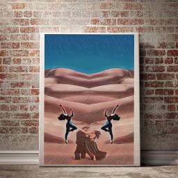 desert dancing couple ircdancinginthedesert dancinginthedesert freetoedit