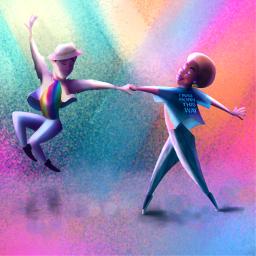 pride pridemonth illustration dancer pridecolors love myillustration colorful