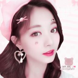 soft boo cute tinw babytalk kaomoji bunny teddymimiw twice tzuyu edit