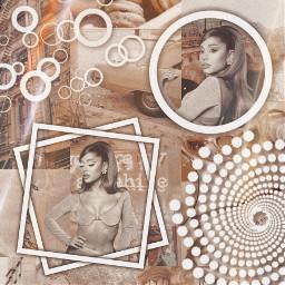 arianagrande ari ariana beige brown cream aesthetic white whiteshapes circle square dots beigeaesthetic brownaesthetic positions creamaesthetic spiral freetoedit