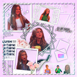 pink rachel rachelgreen jenniferaniston jennifer friends tvshow aesthetic frame pinkaesthetic freetoedit