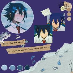 freetoedit tamaki tamakiamajiki mha bnha aesthetic darkblue anime animeboy