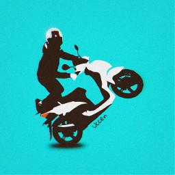 freetoedit vector vectorillustration vector_art vectoredit motorcycle scooter blackandwhite dope deep uccen