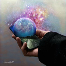 surreal planet stars galaxy phone floramagiceffect freetoedit