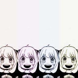 spyxfamily anyaforger poparteffect cute kawaii manga anime girl snazzy colourful adorable cool
