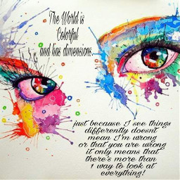 colorful eyes paint