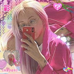 freetoedit chaeyoung twice rainbowcore pastel twicechaeyoung kpop cybercore y2k pridemonth pixel kawaii heart overlay