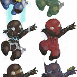 pudding cute superhero drawing cartoons character