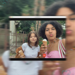 picsart freetoedit girls friends icecream outfit necklace sweet fun trend interesting art summer people photography videocall party heartbubble nature selfie microinfluencer contentcreator luciamoon rcpicsartcall picsartcall