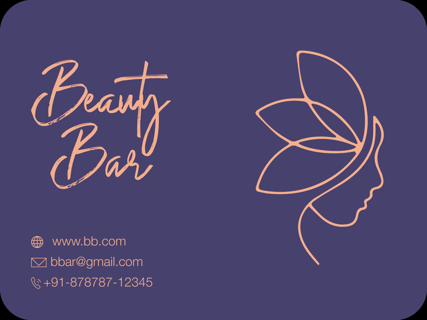 beauty bar business card design template