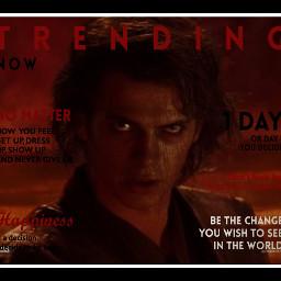 freetoedit starwars magazine poster anakinskywalker