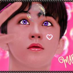 marklee mark nct127 nctu nctdream superm manipulationedit cute pink bubbles kpop kpopedit thankyouforeverything