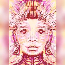 pinkchallenge picsartchallenge faces littlebuddha collageart ccpinkaesthetic2021 pinkaesthetic2021