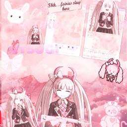freetoedit kotokoutsugi danganronpa pink pinkaesthetic kotoko utsugi kotokoutsugiedit