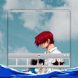 freetoedit shanks onepiece luffy anime animeaesthetic