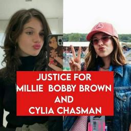 milliebobbybrown cyliachasman justiceformillieandcylia freetoedit