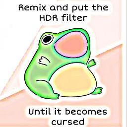 freetoedit hdr froggie frog remix