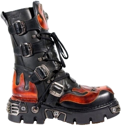 clothes style fashion aesthetic boot shoe black red freetoedit