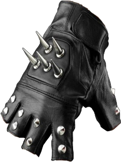 clothes style fashion aesthetic glove spiked studded black leather fingerless freetoedit