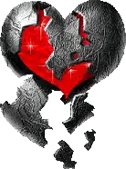 emo aesthic heart black red freetoedit
