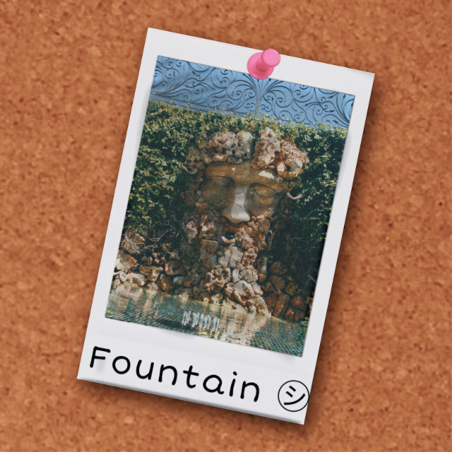 My photo of the day! #pinboard #fountain #greek #poloroid #pushpin