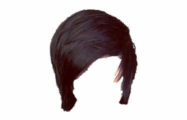 hair scene emo scemo fringe wig aesthetic brown black freetoedit