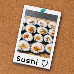 freetoedit sushi polorid picoftheday