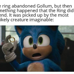 lotr lordoftherings sonic gollum