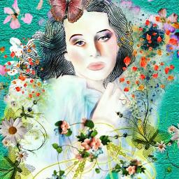 picsart multicolor flowers interesting girl woman nature beautifulwork love butterflys myedit beautifuledit amazing remixit remixed freetoedit