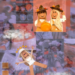 freetoedit roblox robloxhalloween halloween autumn robloxautumn robloxavatars robloxaesthetic halloweenaesthetic autumaesthetic orange brown red pumpkin clouds