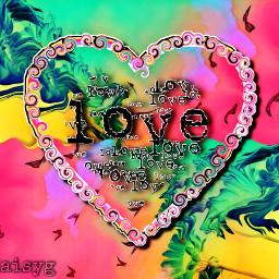 love rainbow heart freetoedit