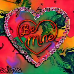 remix rainbow heart bemine love freetoedit