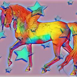 freetoedit starsbackground 3rdentry unicorn colorful stars contestentry srcgentlebluestars gentlebluestars