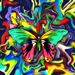 remix background colorful rainbow butterfly freetoedit