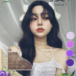 purple pretty cute aesthetic freetoedit coreangirl