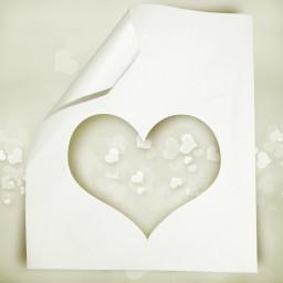 background white heartcutout
