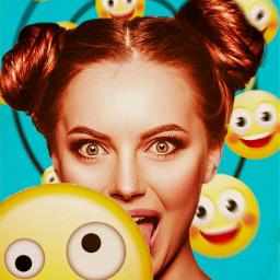 freetoedit woman women picsart picsartbrasil emoticons emojis