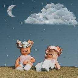 freetoedit aestetic roblox stars clouds moon cloud star robloxedit robloxaesthetic robloxstars sky aesteticstars