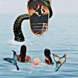 mirrorreflectionimageremixchallenge mermaids fantasy movienight ocean seacreatures titanic water splash mirrorreflection picsart picsartchallenge beach interesting sea nature surrealedit freetoedit ircmirrorreflection